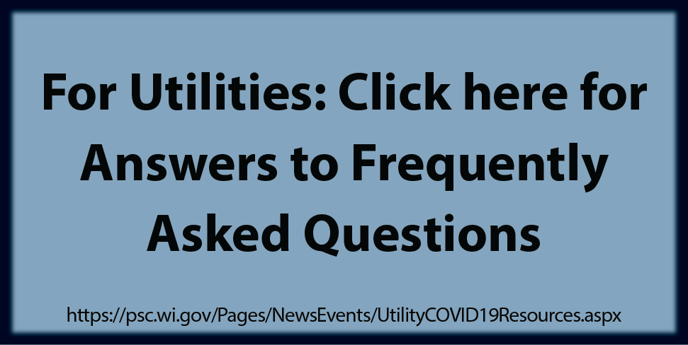 link to FAQ's for Utilities during COVID-19